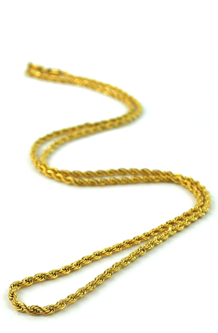 4ccd2bafa6c  ROPE CHAIN  Chaine en OR pour Homme
